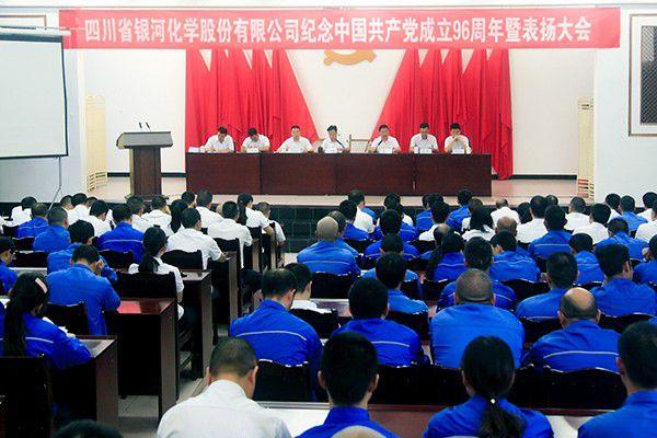 公司召开纪念中国共产党成立96周年暨表扬大会